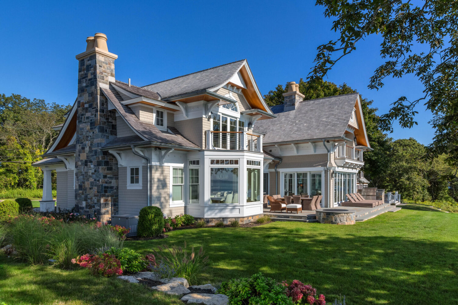 New, traditional, small home, house in Stonington, Connecticut.